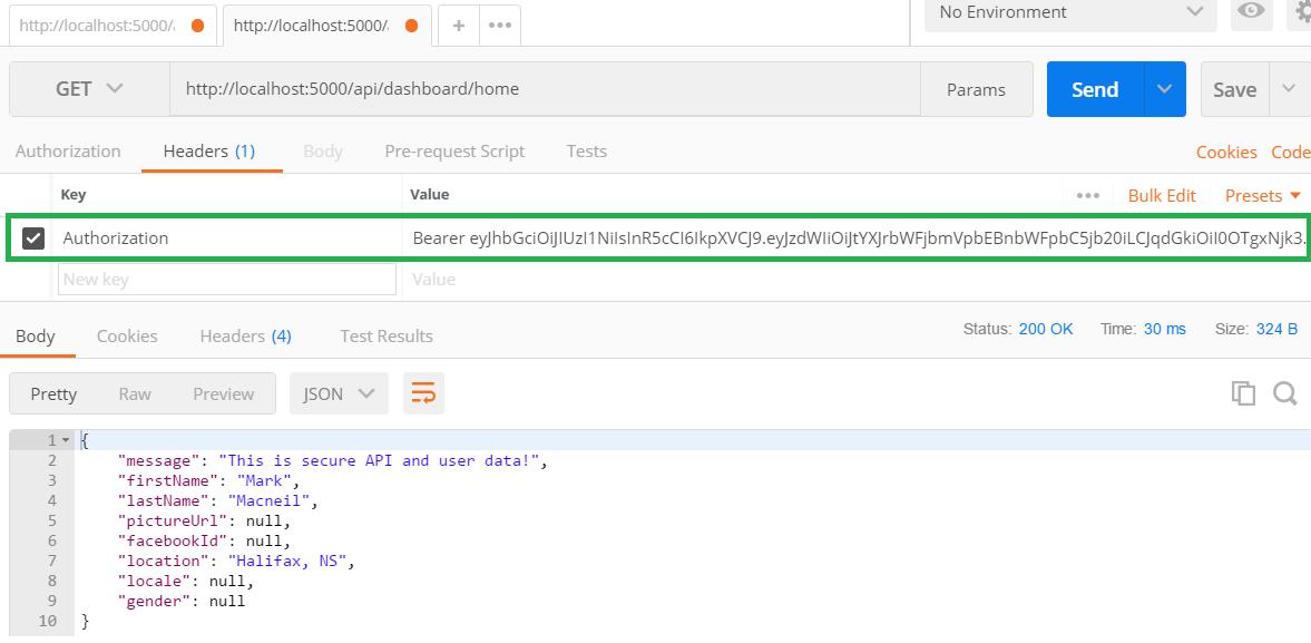 JWT Authentication with ASP NET Core 2 Web API, Angular 5,  NET Core